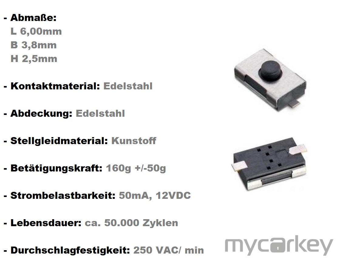 1x microtaster mikrotaster taster schalter fernbedienung. Black Bedroom Furniture Sets. Home Design Ideas